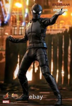 1/6 Scale Toy Spiderman Stealth Suit Male Body withBlack Armored Body Suit