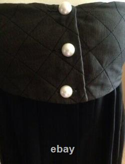 $5,653 Chanel 2013 Quilted Pearl Black Dress 34 36 38 2 4 6 13p Top Suit M