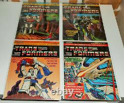 6x TRANSFORMERS 5 6 7 8 9 10 lot Marvel UK 1984 G1 early black suit Spider-man
