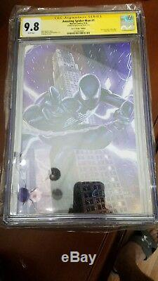AMAZING SPIDER-MAN #1 CGC 9.8 WHITE PAGES, GREG HORN VIRGIN BLACK SUIT Exclusive