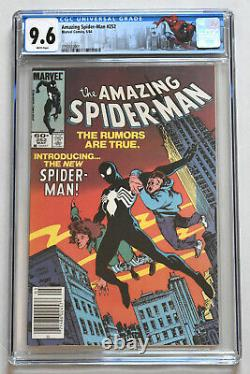 AMAZING SPIDER-MAN (1963) #252 CGC 9.6 White Pages! Newstand Ed! 1st Black Suit