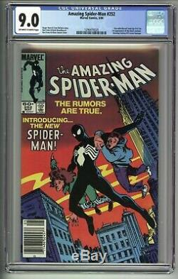AMAZING SPIDER-MAN # 252 CGC 9.0 1ST App. Of Black Suit NEWSSTAND EDITION