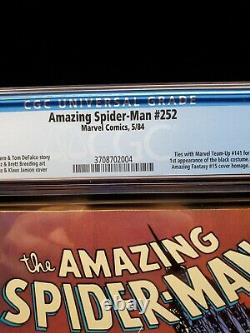 AMAZING SPIDER-MAN #252 Newsstand CGC 9.4 WHITE PAGES! First app. Of black suit