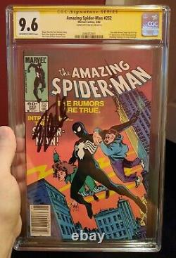 AMAZING SPIDER-MAN #252 SS SIGNED by STAN LEE CGC 9.6 SS 1ST BLACK SUIT VENOM