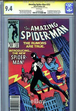 Amazing Spider-Man #252 (1984) Marvel CGC 9.4 1st Black Suit Signed by Stan Lee