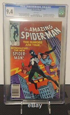 Amazing Spider-Man 252 CGC 9.4 1st Black Suit White Pages UPC