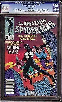 Amazing Spider-Man # 252 CGC 9.6 White pages 1st app of the Black Suit in title