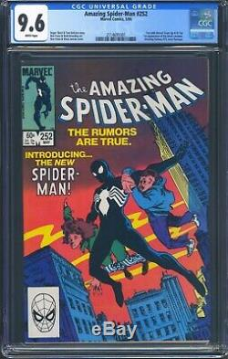 Amazing Spider-Man 252 (Marvel) CGC 9.6 White Pages 1st Appearance of Black Suit