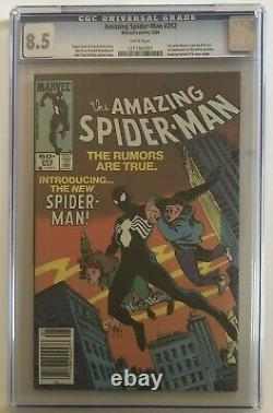 Amazing Spider-Man 252 Newsstand (1st Appearance Black Suit) Marvel 1984 CGC 8.5