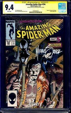 Amazing Spider-Man #294 CGC SS signed & BLACK SUIT SPIDEY SKETCH by Mike Zeck