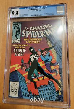Amazing Spider-man #252 1st Black Suit Cgc 9.8 White Pages