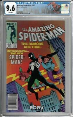 Amazing Spider-man # 252 CGC 9.6 WP 1st app. Of the Black Suit, Newsstand Copy