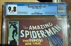 Amazing Spider-man #252 Cgc 9.8 White Pages Newsstand Edition 1st Black Suit