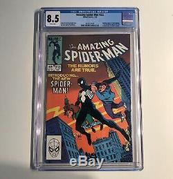 Amazing Spiderman 252 8.5 cgc First Appearence Of Black Suit