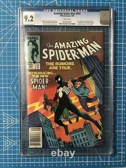 Amazing Spiderman 252 CGC 9.2 1ST Black Suit OLD LABEL WHITE PAGES NM