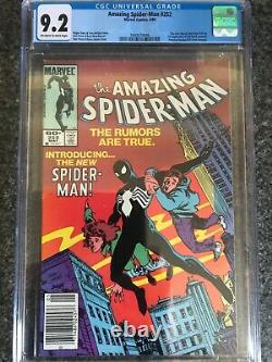 Amazing Spiderman 252 CGC 9.2 First Black Suit Newsstand White Pages
