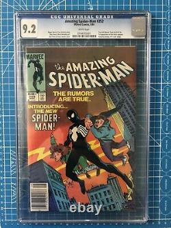Amazing Spiderman 252 CGC 9.2 First Black Suit Newsstand White Pages Old Label
