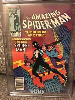 Amazing Spiderman 252-First Black Suit Spiderman, CGC 8.5, Newsstand, White Pages
