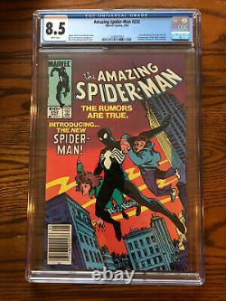 Amazing Spiderman 252-First Black Suit Spiderman, CGC 8.5 White Pages Newsstand