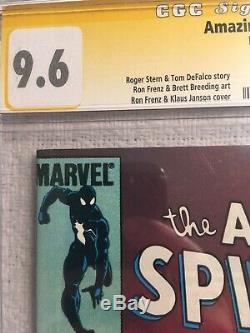 Amazing Spiderman 252 cgc 9.6 SS Signed By Stan Lee White Pages 1st Black Suit