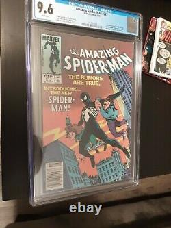 Amazing spider-man 252 cgc 9.6 Newsstand! Black suit appearance