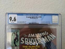 Amazing spider-man 252 cgc 9.6 first appearance of the black suit. Newstand
