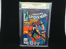 CGC SS 9.6 Amazing Spider-Man #252 Signed Frenz First Black Suit Appearance