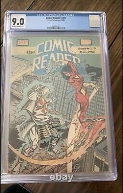 Comic reader #215. First Early Appearance Of Black Suit Spider Man (venom)