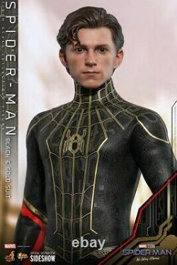 Figure Hot Toys 1/6 Spider-Man No Way Home, black gold suit, 2021 pre-order