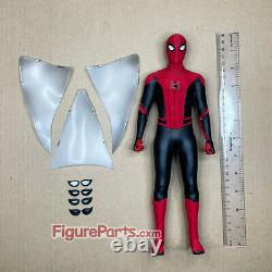 Figure Parts Head Body Set Hot Toys mms542 Spiderman Upgraded Suit Red Black