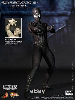 HOT TOYS MARVEL SPIDER-MAN BLACK SUIT EXCLUSIVE 16 FIGURE Sealed in Brown Box