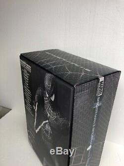 Hot Toys 1/6 Scale Figure Spider-Man 3 Black Suit MMS165 Great Condition