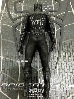 Hot Toys MMS165 Scale 1/6 SPIDERMAN 3 Black Suit Version Loose Figure Only NEW