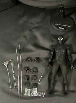 Hot Toys Spider Man 3 Black Suit Figure with Stand MMS165 Action Figure