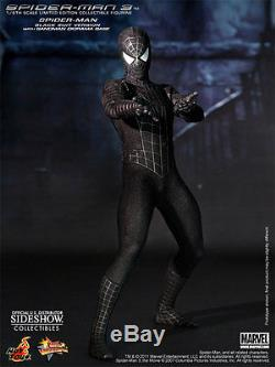 Hot Toys Spider-Man Sixth Scale Figure Sideshow Exclusive Black Suit