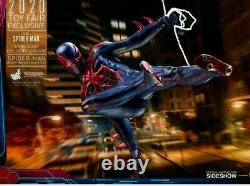 Hot Toys Vgm42 Spider-man 2099 Black Suit 16 Figure Exclusive New Sealed