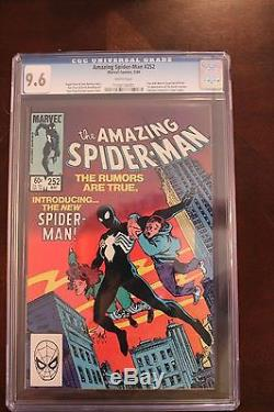 Marvel Amazing Spider-Man #252 CGC 9.6 White Pages KEY 1st Black Suit HOT