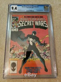 Marvel Super-Heroes 8 CGC 9.4 Marvel comics 1983 tied for 1st black suit