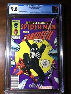 Marvel Team-Up #141(1984)-1st Black Suit! Tied with 252! CGC 9.8! Newsstand