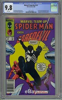 Marvel Team Up # 141 CGC 9.8 White Pages (Marvel, 1984) 1st Black Suit symbiote
