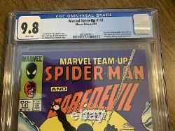 Marvel Team-up #141 Cgc 9.8 White Pages // 1st Black Suit Newsstand Marvel 1984