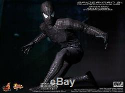 NEW Hot Toys 1/6 MMS165 Spider-Man 3 Spiderman Black Suit with Sandman Diorama