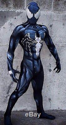 New Black Venom Symbiote Spider-Man 3D Printing With Muscle Shading Costume III