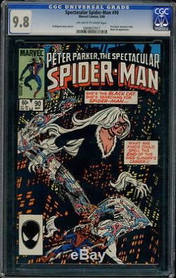 Peter Parker Spectacular Spider-Man 90 CGC 9.8 OWithWP 1st Black Suit in Title
