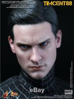 Ready! Hot Toys MMS165 Spider-Man Spiderman 3 Black Suit Version Normal Edition