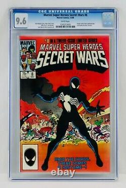 SECRET WARS #8 CGC 9.6 White Pages First Black Suite Spider-man Appearance NM+