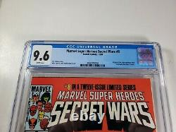 Secret Wars #8 CGC 9.6 White Pages First Black Suite Spider-Man Appearance