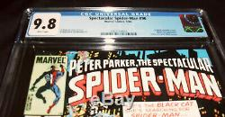 Spectacular spiderman # 90 cgc 9.8 universal grade first black suit in title