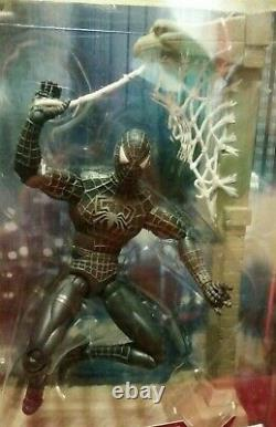 Spider-Man 3 Unleashed 360 RARE Black-Suit 8 inch Hasboro Figure (FREE SHIPPING)