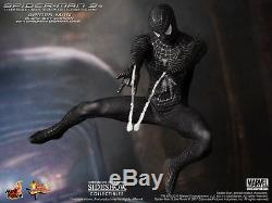 Spider-Man Black Suit Version SpiderMan Sixth Scale Hot Toys Sideshow